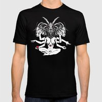 Woman Is A Devil Mens Fitted Tee Black SMALL