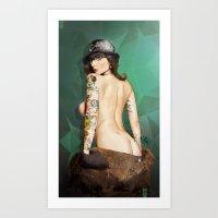 Self Portrait As A Lady … Art Print