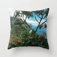 Kalalau Kauai Throw Pillow
