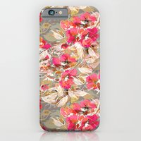 iPhone & iPod Case featuring Roses in retro by Joan McLemore