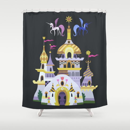 Canterlot Shower Curtain