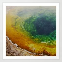 Morning Glory Pool Art Print