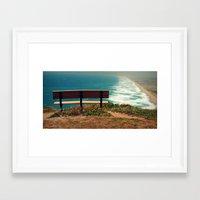 What a view!  Framed Art Print