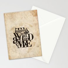 I'm Inspired By The World Around Me Stationery Cards