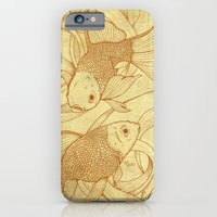 iPhone & iPod Case featuring Vintage Goldfishes  by Mike Koubou