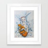 The Fox Queen Framed Art Print