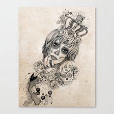 Sugar Skull Queen Canvas Print