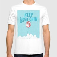 Keep Your Chin Up Mens Fitted Tee White SMALL