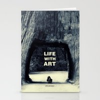 Life WITH art & Life without Stationery Cards