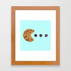 PACKMAN COOKIE Framed Art Print