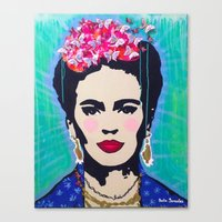 Frida Kahlo By Paola Gon… Canvas Print