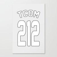 TCOM 212 AREA CODE JERSE… Canvas Print