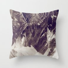 Black Crystal Throw Pillow