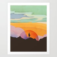 I Like To Watch The Sun … Art Print