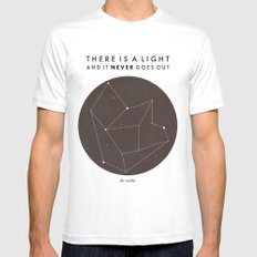 There Is A Light Mens Fitted Tee SMALL White