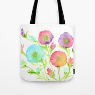 Tote Bag featuring Flowers by Lindsay Gail