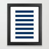Nautical Stripes Framed Art Print