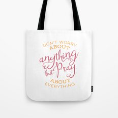 PRAYER OVER WORRY Tote Bag