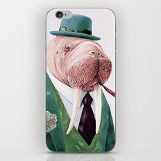 Walrus Green iPhone & iPod Skin