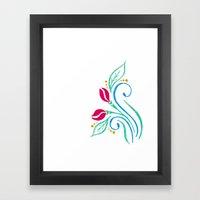 Abstract tulip motif Framed Art Print