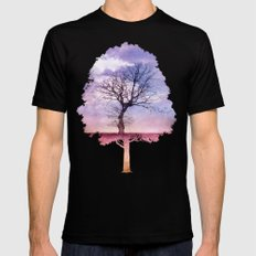 ATMOSPHERIC TREE | Early Spring SMALL Black Mens Fitted Tee