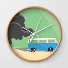 Dharma Van vs Smoke Monster Wall Clock
