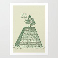 I See ALL Art Print