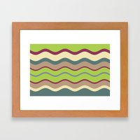 Appley Wave Framed Art Print