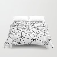 Abstract Heart Black On … Duvet Cover