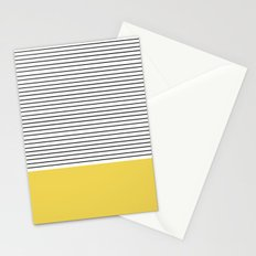 MINIMAL Green Stripes Stationery Cards