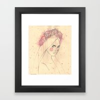 EXPLOTION ROSES Framed Art Print