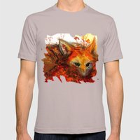 Fox In Sunset III Mens Fitted Tee Cinder SMALL