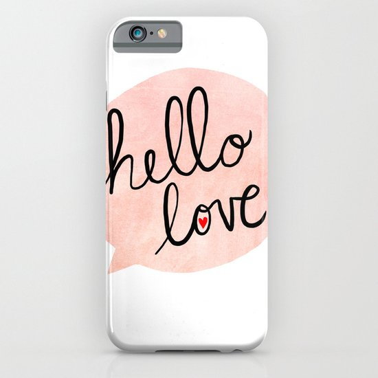 Hello Love iPhone & iPod Case
