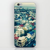 Retro Reykjavik - Icelan… iPhone & iPod Skin