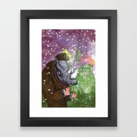 Russian Rhino Framed Art Print