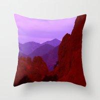 Ragged Uplifts Throw Pillow
