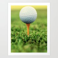 Golf Ball on Tee Art Print
