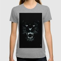 Beast Womens Fitted Tee Tri-Grey SMALL