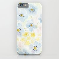 Blue Fields. Fictional Flowers. iPhone 6 Slim Case