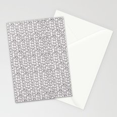 Knitting Knit Pattern - Doodle - Black and White Ink Stationery Cards