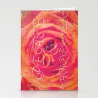 Peace And Happiness Stationery Cards
