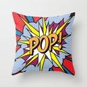 POP Art Exclamation Throw Pillow