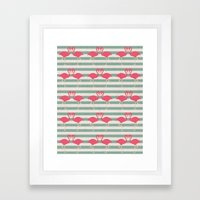 Pink Kisses Framed Art Print