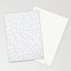 White Cubism Stationery Cards