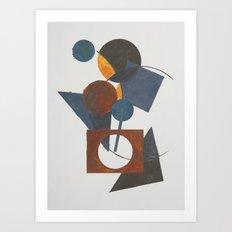 Constructivistic painting Art Print