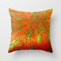 Metallic Sun Throw Pillow