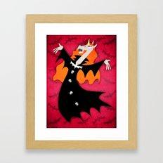 Unicorn Vampire Framed Art Print
