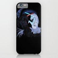Starwars with unicorns (black) iPhone 6 Slim Case
