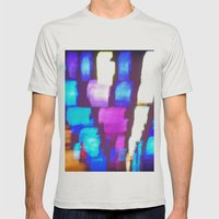 Finger (Glass) Painting Mens Fitted Tee Silver SMALL