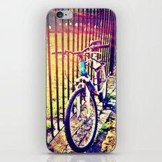 Cycling in the sun iPhone & iPod Skin